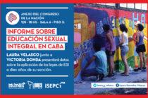 [CABA] Velasco y Donda presentan Informe sobre Educación Sexual Integral