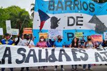 [Chaco] Barrios de Pie se movilizó por trabajo genuino.