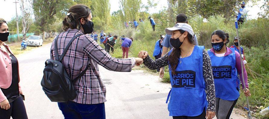 [Mendoza] 1ero. de Mayo. Mujeres de Barrios de Pie organizadas para el trabajo solidario y comunitario