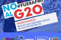 Libres del Sur convoca a marchar contra el G20