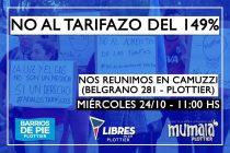 [Plottier] Convocan a manifestarse contra los tarifazos