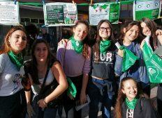 Puntos verdes por el Aborto legal, seguro y gratuito en Mar del Plata