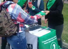 Puntos verdes por el Aborto legal, seguro y gratuito en San Luis