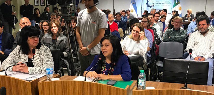 [Chaco] Nancy Sotelo escuchó reclamos de comerciantes de la ciudad